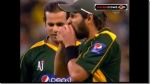 Funny Pakistani Cricket Team Captain Shahid Afridi Eating the Ball Picture