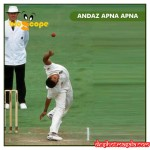 Funny South African Bowler Paul Adams Bowling Action ( leg break)